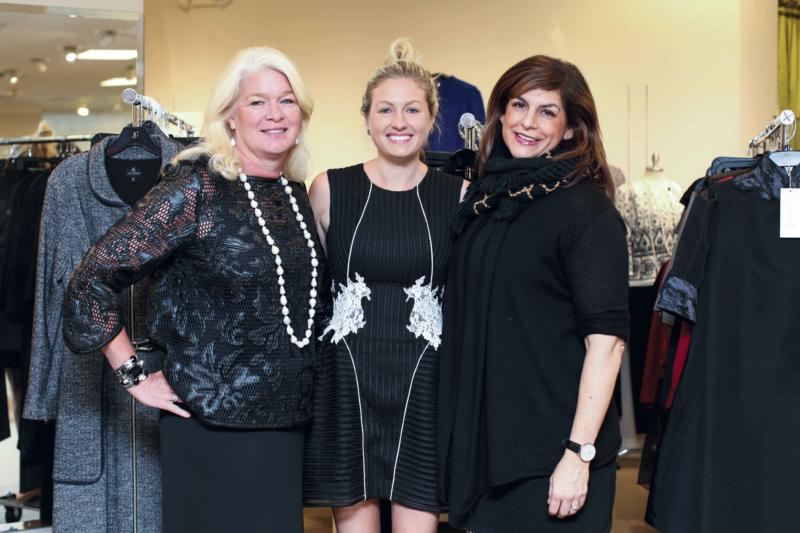 Susan Vogt, Rodes women's buyer and owner; Angela Allen, Rodes For Her Personal Stylist; and Jodi Sandman, Crescala Fashion Development CEO. Photo by Alexa Pence.